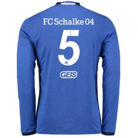 Schalke 04 Home Shirt 2016-17 - Long Sleeve with Geis 5 printing