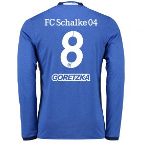 Schalke 04 Home Shirt 2016-17 - Long Sleeve with Goretska 8 printing