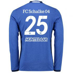 Schalke 04 Home Shirt 2016-17 - Long Sleeve with Huntelaar 25 printing