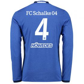 Schalke 04 Home Shirt 2016-17 - Long Sleeve with Höwedes 4 printing