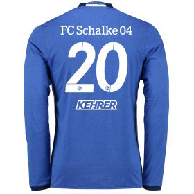 Schalke 04 Home Shirt 2016-17 - Long Sleeve with Kehrer 20 printing