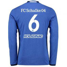 Schalke 04 Home Shirt 2016-17 - Long Sleeve with Kolasinac 6 printing