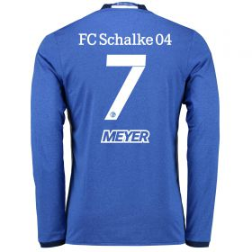 Schalke 04 Home Shirt 2016-17 - Long Sleeve with Meyer 7 printing