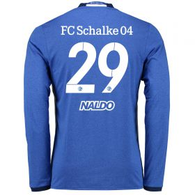Schalke 04 Home Shirt 2016-17 - Long Sleeve with Naldo 29 printing