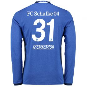 Schalke 04 Home Shirt 2016-17 - Long Sleeve with Nastasic 31 printing