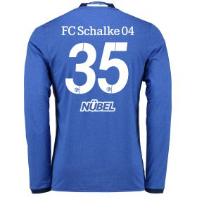 Schalke 04 Home Shirt 2016-17 - Long Sleeve with Nübel 35 printing