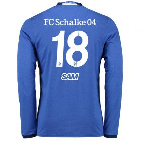 Schalke 04 Home Shirt 2016-17 - Long Sleeve with Sam 18 printing