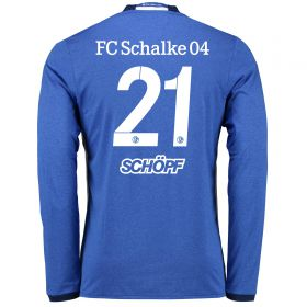 Schalke 04 Home Shirt 2016-17 - Long Sleeve with Schöpf 21 printing