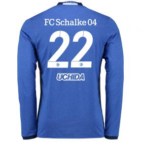 Schalke 04 Home Shirt 2016-17 - Long Sleeve with Uchida 22 printing