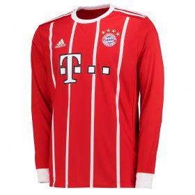 Bayern Munich Home Shirt 2017-18 - Long Sleeve with Thiago 6 printing