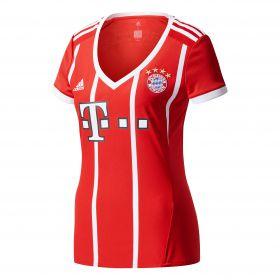 Bayern Munich Home Shirt 2017-18 - Womens with Lewandowski 9 printing