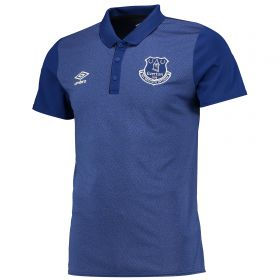 Everton Training Poly Polo - Junior - Sodalite Blue/Electric Blue