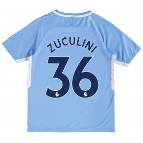 Manchester City Home Stadium Shirt 2017-18 - Kids with Zuculini 36 printing