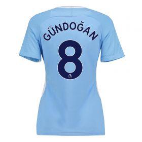 Manchester City Home Stadium Shirt 2017-18 - Womens with Gündogan 8 printing