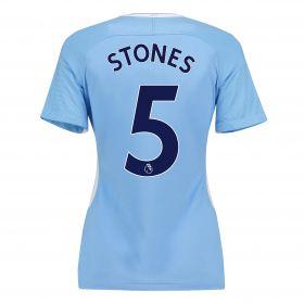 Manchester City Home Stadium Shirt 2017-18 - Womens with Stones 5 printing