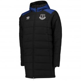 Everton Training Padded Jacket - Junior - Black/Sodalite Blue