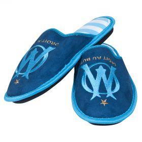 Olympique de Marseille Stripe Slippers - Blue - Boys
