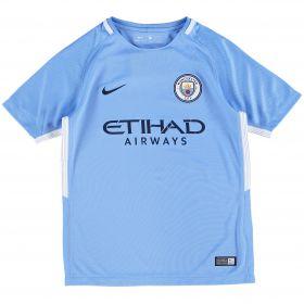 Manchester City Home Stadium Shirt 2017-18 - Kids with Bernardo 20 printing