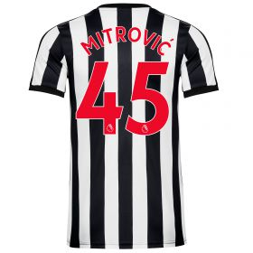 Newcastle United Home Shirt 2017-18 - Kids with Mitrovic 45 printing