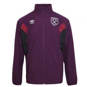 West Ham United Training Shower Jacket - Winter Bloom/Black/New Claret