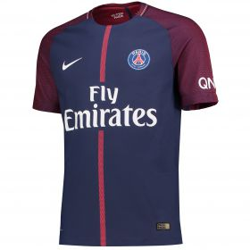 Paris Saint-Germain Home Vapor Match Shirt 2017-18 with Augustin 29 printing