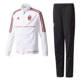 AC Milan Training Presentation Suit - White - Kids