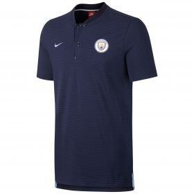 Manchester City Authentic Grand Slam Polo - Navy