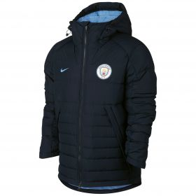 Manchester City Core Hooded Down Jacket - Navy