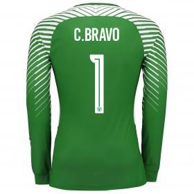 Manchester City Goalkeeper Cup Shirt 17-18 - Kids with C.Bravo 1 printing