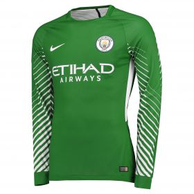 Manchester City Goalkeeper Shirt 2017-18 with Ederson M. 31 printing