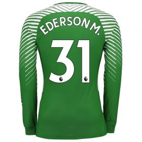 Manchester City Goalkeeper Shirt Shirt 17-18 - Kids with Ederson M. 31 printing