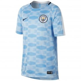 Manchester City Squad Pre-Match Training Top - Light Blue - Kids