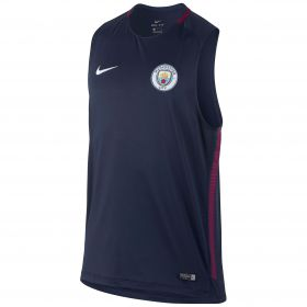 Manchester City Squad Training Sleeveless Top - Navy