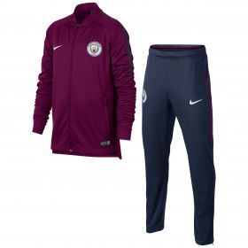 Manchester City Squad Training Tracksuit - Maroon - Kids