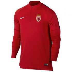 AS Monaco Squad Drill Top - Red