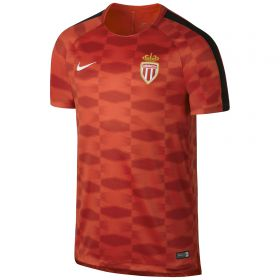 AS Monaco Squad Pre Match Top - Red