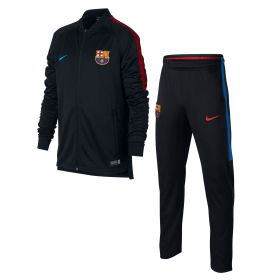 Barcelona Squad Knit Tracksuit - Black - Kids