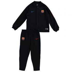 Barcelona Squad Knit Tracksuit - Black - Little Kids
