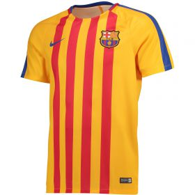 Barcelona Squad Pre Match Top - Gold