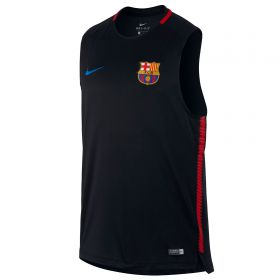 Barcelona Squad Sleeveless Training Top - Black