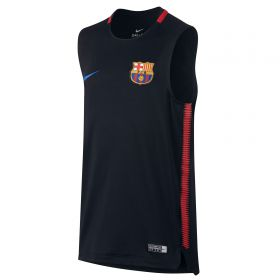 Barcelona Squad Sleeveless Training Top - Black - Kids