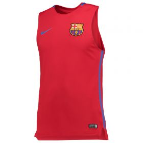 Barcelona Squad Sleeveless Training Top - Red