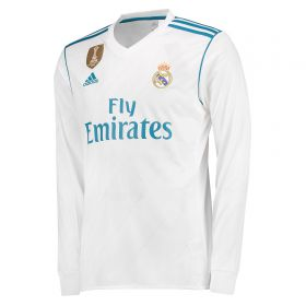 Real Madrid Home Shirt 2017-18 - Long Sleeve with Zidane 5 printing