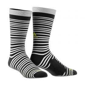 adidas Tango Training Socks - White/Black/Solar Yellow