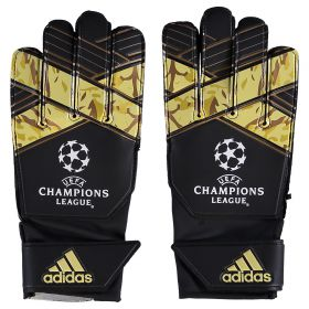 adidas Young Pro UEFA Champions League Goalkeeper Gloves - Black/White/Copper Met.