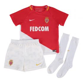 AS Monaco Home Stadium Kit 2017-18 - Little Kids