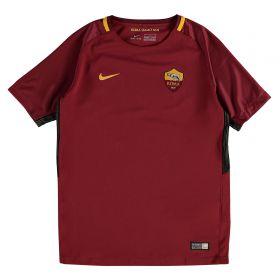 AS Roma Home Stadium Shirt 2017-18 - Kids with Manolas 44 printing