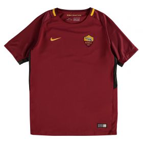 AS Roma Home Stadium Shirt 2017-18 - Kids with Strootman 6 printing