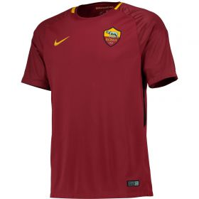 AS Roma Home Stadium Shirt 2017-18 with Strootman 6 printing