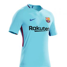 Barcelona Away Vapor Match Shirt 2017-18 with Aleix Vidal 22 printing